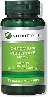 Nutritionl Chromium Picolinate 200 mcg 100 Tablets