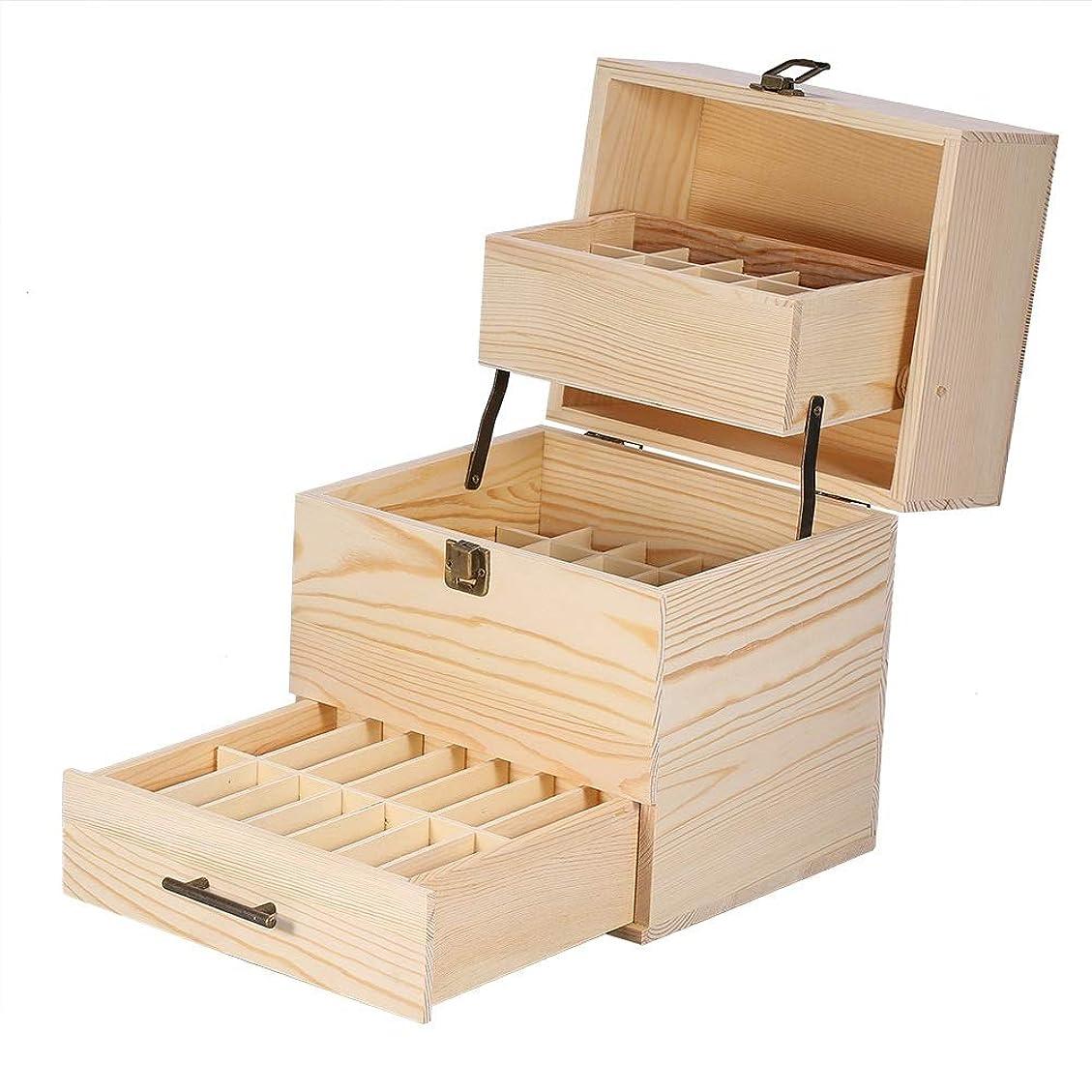 好奇心公式ファンタジー木製の三層エッセンシャルオイル収納ボックス
