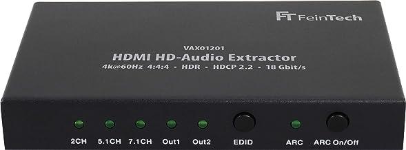 FeinTech VAX01201 Extractor de HD-Audio HDMI 7.1 ARC Dolby Atmos DTS-X 4K 60Hz HDR