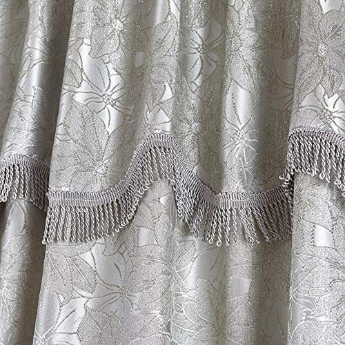 Imperial Rooms Silver Curtains Pencil Pleat Super Soft Durable Jacquard Window Treatment Bedroom Curtains for Bedroom, Living Room and Hallway (Silver Maya, 90' x 72'- (228cm x 183cm))