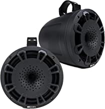 MB Quart NHT1-120BPR - Set of 2, Two Way, Black, 8-inch Wake Tower, Compression Horn Speaker, Poly Cone, Includes Mounting Hardware, ATV, UTV
