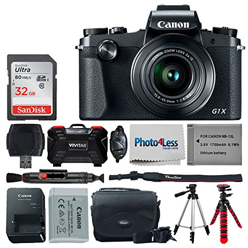 Canon PowerShot G1 X Mark III Digital Camera - Bundle.