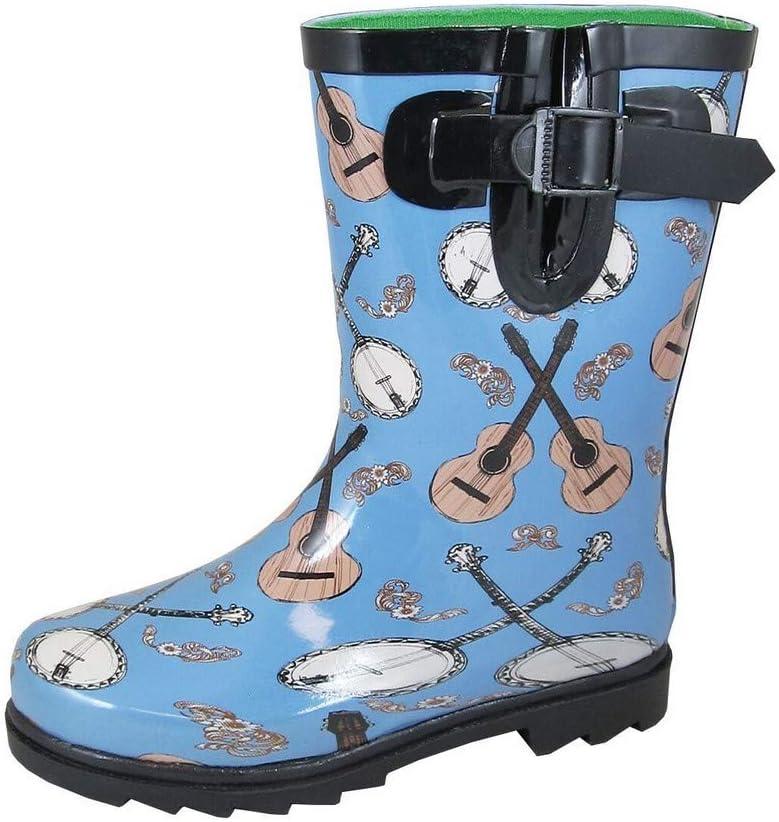 Smoky Charlotte Mall Mountain Childrens Boys Banjo Blue 1 year warranty Boots 11 Rain D Rubber