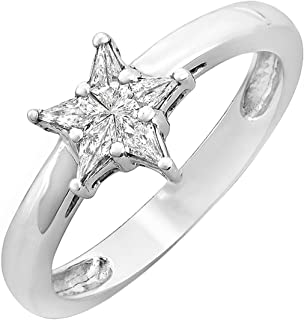 star shaped diamond engagement ring