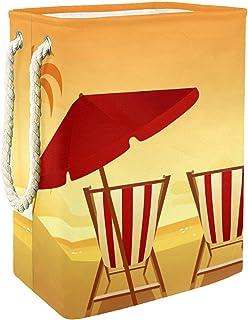 Vockgeng Chaise de Plage Accueil Organisation Panier de Rangement imperméable Pliable de Jouets de Jouets de Panier avec d...