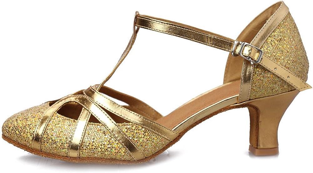DKZSYIM 2021 autumn and winter new Women's Fashion Ballroom Party Dance Shoes San Jose Mall Latin Glitter