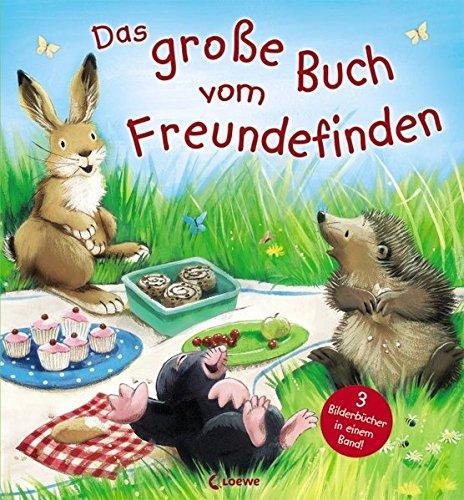Das große Buch vom Freundefinden: Sammelband mit 3 Vorlesegeschichten über Freundschaft für Kinder ab 3 Jahre