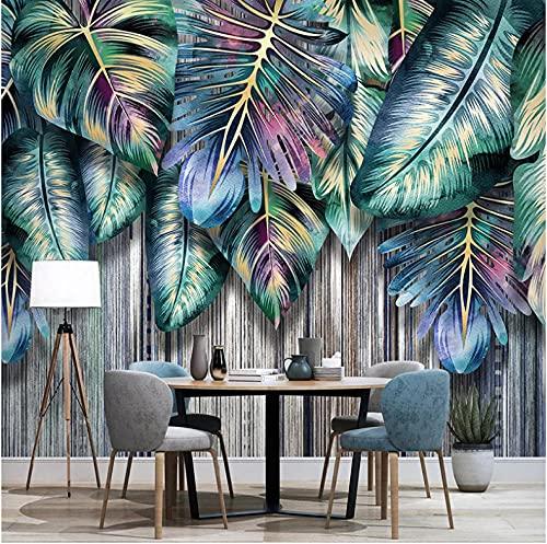 Newberli Mural 3D Personalizado Planta Tropical Nórdica Hojas Verdes Sofá Moderno Tv Papel Tapiz De Fondo Arte De Pared Para Sala De Estar Para Decoración De Dormitorios