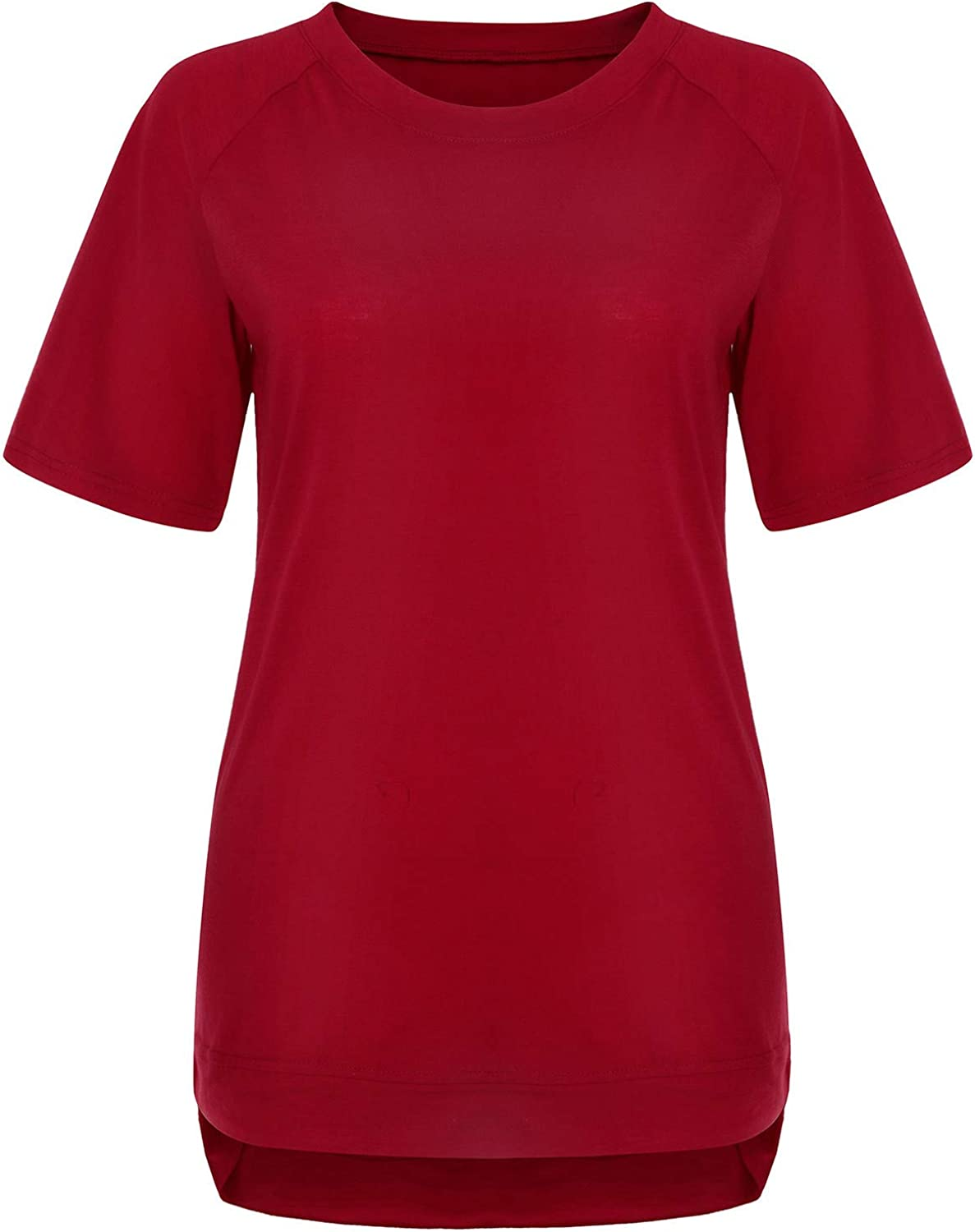 Aukbays T-Shirts for Women Women's Short Sleeve V-Neck Shirts Loose Fit Summer Casual Tees T-Shirt Basic Tops Blouses