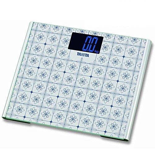 TANITA® 200kg 440lb glas digitale precisie Thuis badkamer lichaam weegschaal met groot platform en grote Blacklid Display (wit)