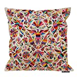 HGOD DESIGNS Mexican Design Colorful Pigeons Pheasant Pillow Case 18' X 18' Cotton Linen