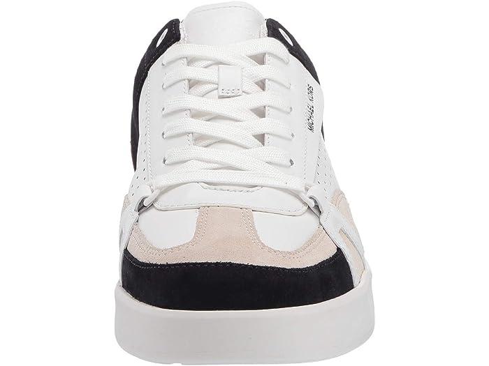 Michael Kors Adrian Optic White/bone/dark Midnight/dark Persimmon Sneakers & Athletic Shoes