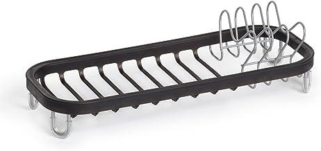 Umbra Sinkin mini ociekacz z metalu – pasuje do zlewozmywaków i powierzchni roboczych, kompaktowy i poręczny, czarny / nikiel