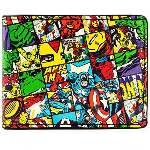 Marvel Avengers geprüft Charaktere Mehrfarbig Portemonnaie Geldbörse