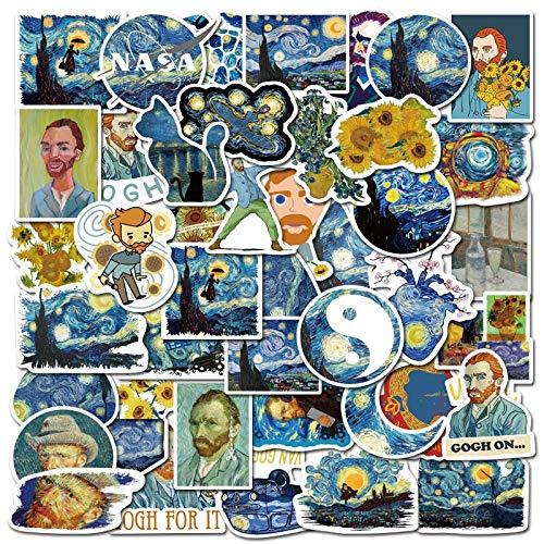 BLOUR kunstenaar Van Gogh kunst schilderij stijl sticker voor Fall DIY bagage laptop skateboard motorfiets fiets sticker sticker F3 40 stuks