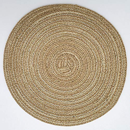 Placemat Nordic Woven Table Mat Round Non-Slip Anti-Scald Heat Insulation Mat Coaster Bowl Mat