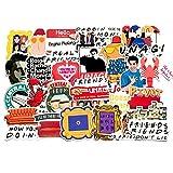 Friends TV Show Funny Badge DIY Decoration Sticker Cartoon Computer Wall Notebook Mobile Home Pastoral Graffiti 34Pcs/Set