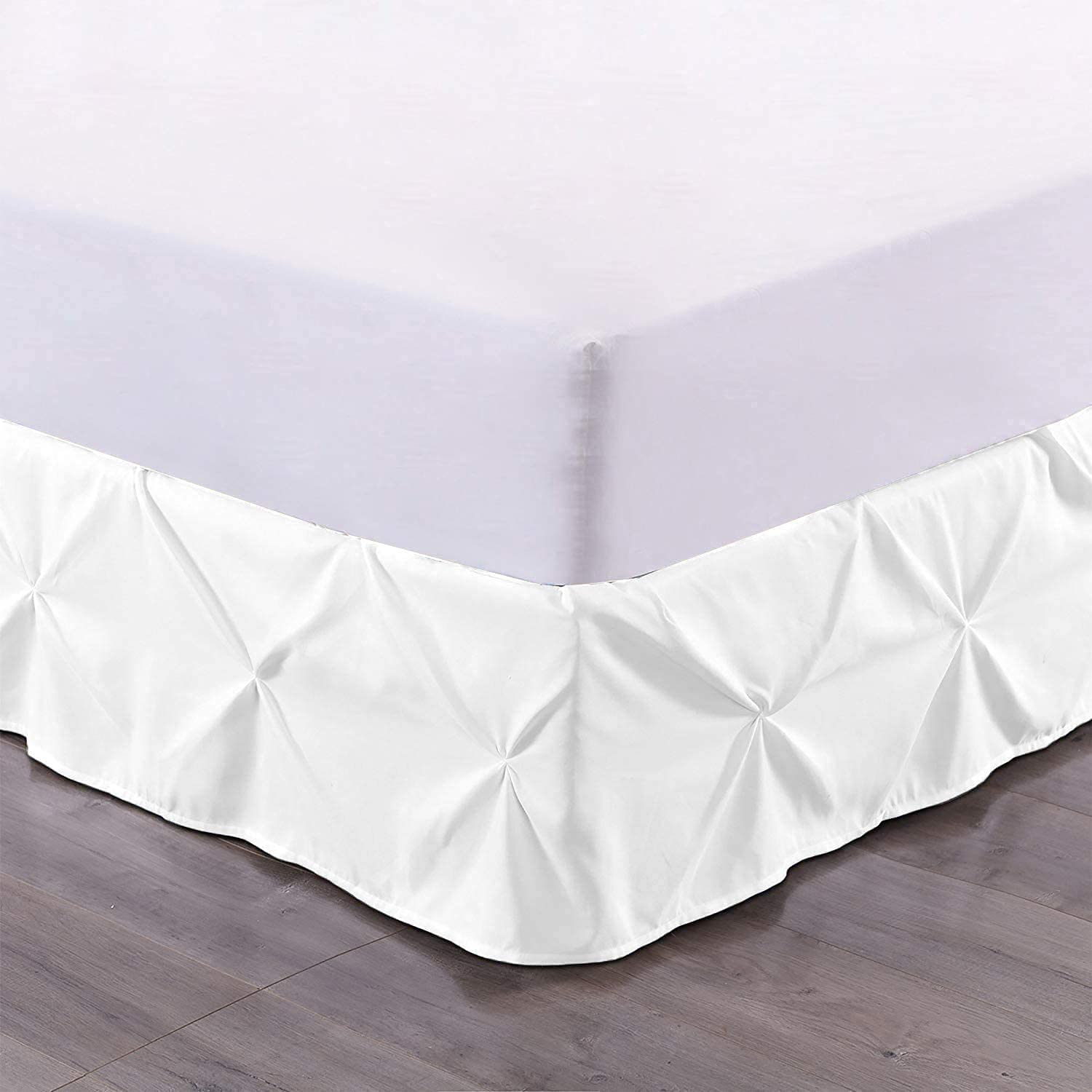 600TC Ranking TOP16 Pinch Clearance SALE Limited time Pleat 100% Egyptian Cotton 76X80 Inch Skirt Bed 1X K