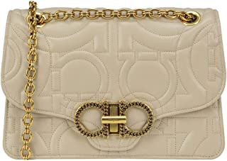 Luxury Fashion | Salvatore Ferragamo Womens MCGLBRE0000G7094E Beige Shoulder Bag | Season Outlet