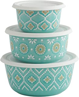 Pfaltzgraff Antigua Set of 3 Stoneware Bowls with Lids