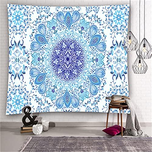 YYRAIN Bohème Art Mural Décoration Tissu Salon Chambre Tapisserie Literie Couvre-Lit Couloir Tenture Murale Fond Tenture Tissu 59x59 Inch{150x150cm} D