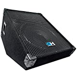 Grindhouse Speakers - GH15M - 15 Inch Passive Wedge Floor / Stage Monitor 400 Watts RMS - PA/DJ Stage, Studio, Live Sound 10 Inch Monitor