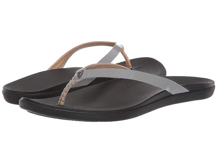 Ho'opio Leather  Shoes (Poi/Black) Women's Sandals