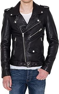 Kingdom Leather Men Slim Fit Biker Motorcycle Lambskin Leather Jacket Coat Outwear Jackets X1232