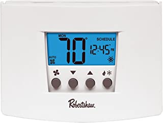 Robertshaw RS4110 Heat Pump/Single Stage 1 Heat/1 Cool Digital Non-Programmable Thermostat