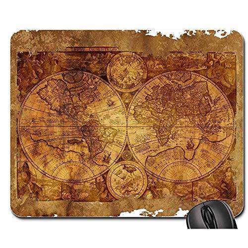 Mousepad Weltkarte Altes Historisch Pergamentpapier Mauspad Mousepad Mauspads Mauspad Spielmatte 25X30cm