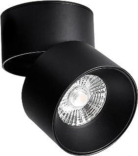 Ritif Spot plafond orientable 15W LED Noir pivotant 3000K Blanc Chaud Luminaire Plafonnier salon salle à manger cuisine co...