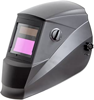 Antra AH6-260-0000 Solar Power Auto Darkening Welding Helmet Wide Shade Range 4/5-9/9-13 with Grinding 6+1 Extra lens covers Stable for TIG MIG MMA Plasma