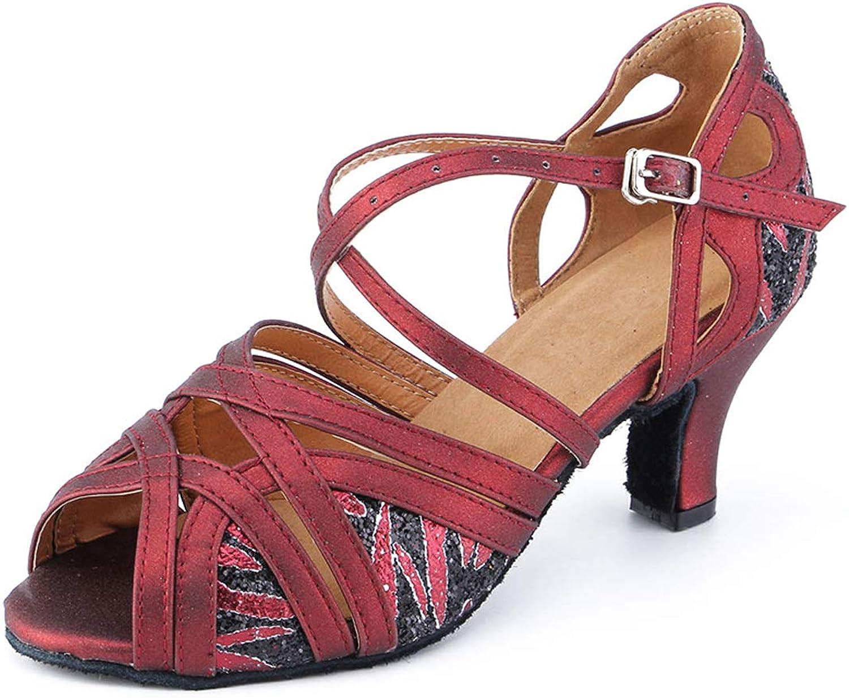 Honeystore Women's PU Leather Ballroom Dance shoes Latin 1920s Mary Jane Prom Salsa Performance