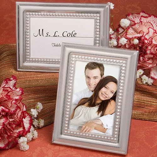 100 Matte Silver Metal Place Card / Photo Frames