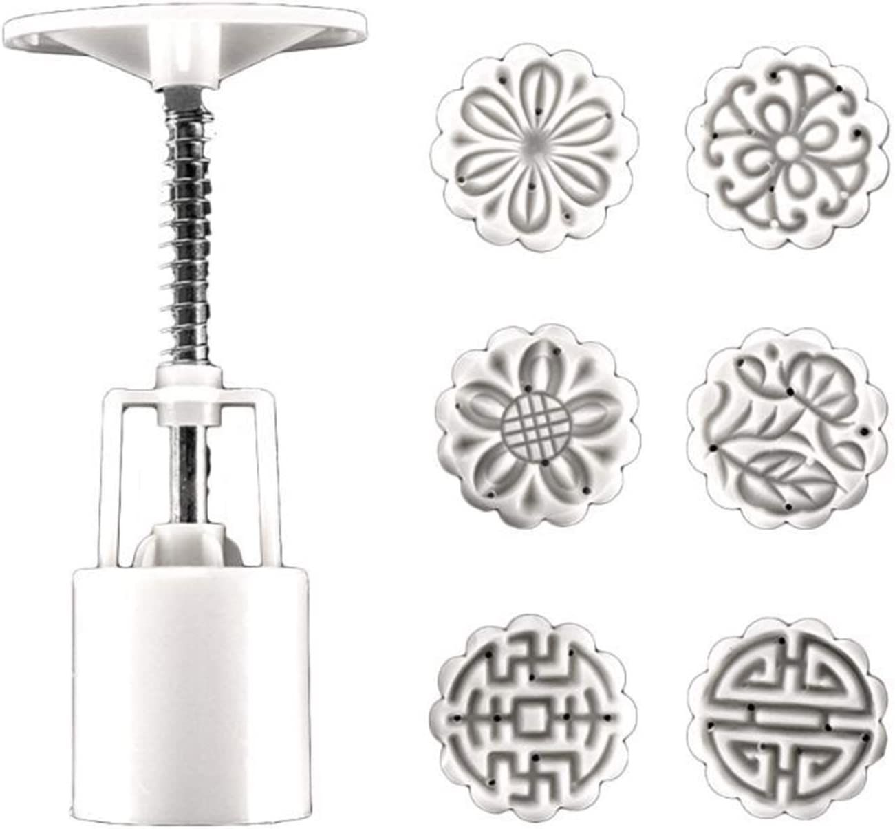 25g 50g 100g 150g Mooncake Barrel Ha With SALENEW very popular! 4pcs Mold Stamps Max 47% OFF Fruit