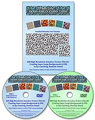 Plotter Art™ Seamless Texture Tiles Volume Three, 600 High Resolution Images on DVD-ROM with 51 Page PDF User Guide & Image Gallery - Standard Royalty Free License