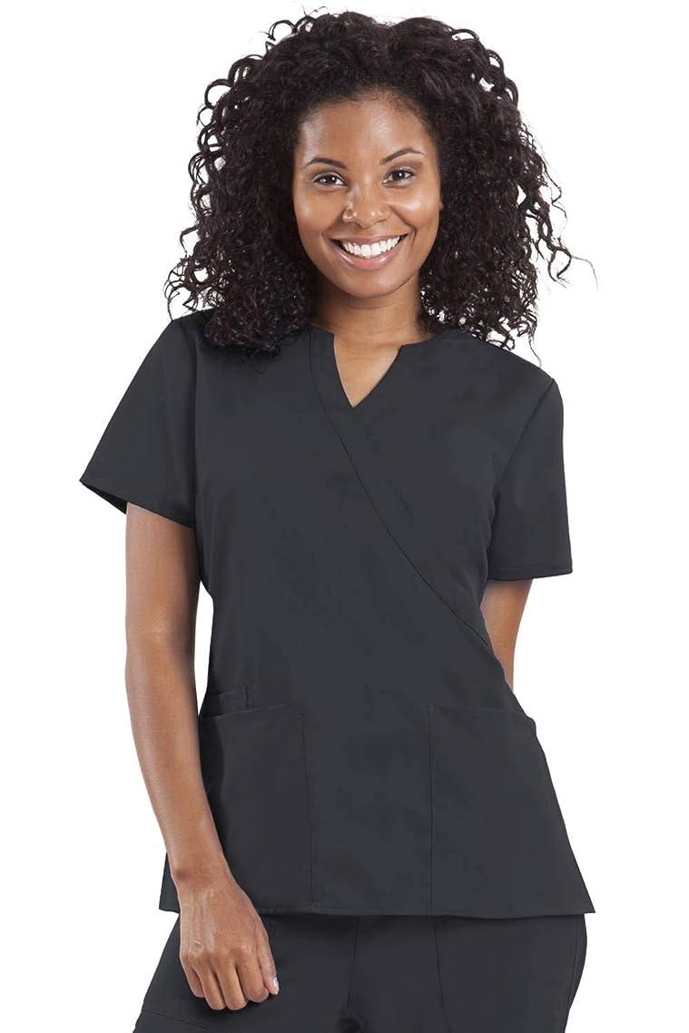healing hands Purple Label Women's Jaclyn 2211 Mock Wrap Scrub Top Scrubs