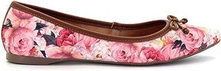 Sapatilha Royalz Tecido Laço Floral Roses Rosa