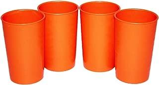 Tupperware Vintage Set of 4 Juice Tumblers 5 oz. Stacking Cups Orange 102