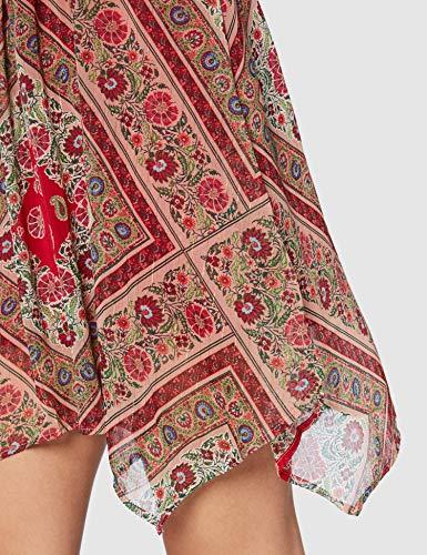 Springfield Vestido Estampado Bajo Asimétrico Dress, Morado/Lila, 40 Womens