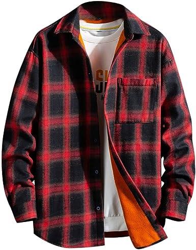 Camisa Hombre Invierno Cuadros,Camisa A Cuadros Gruesa Y De ...