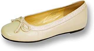 Abby Women Wide Width Leather Flat for Casual or Fancy Attire Decorative Croc-Print