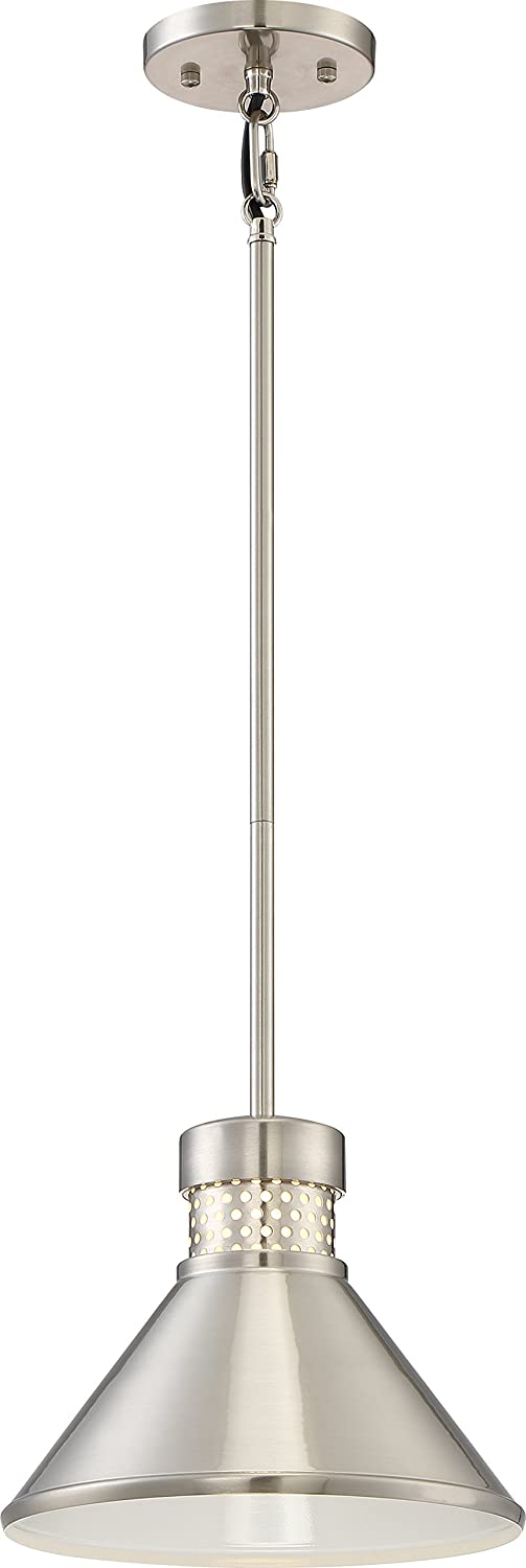 Nuvo Lighting Nuvo 62 851 LED Pendant, Small, Brushed Nickel