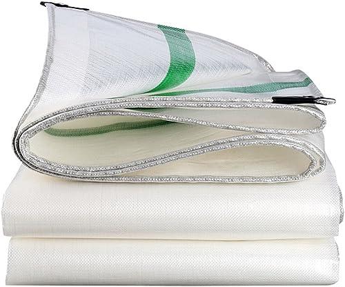 LIYFF- Bache Blanche Prougeection 100% UV, Preuve de l'eau, Preuve de la pourriture et Résistant à la moisissure pour Camper et extérieur, épaisseur 0.38mm, 210g m2, Options Multi-Taille