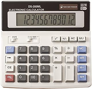 YEBMoo Large Computer Electronic Calculator Counter Solar & Battery Power 12 Digit Display Multi-Functional Big Button for...