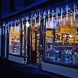 TurnRaise 50cm 10 Tubo 540 LED Meteor Luci Natale Luci, Impermeabili Meteor Shower Light per Festa di Nozze Decorazione All'aperto (Blau) [Classe di efficienza energetica A]