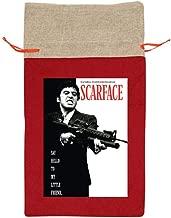 Al Pacino Scarface Poster Funny Gift Designer Christmas Drawstring Bag Gift Bags Santa Sack For Christmas Party Decoration