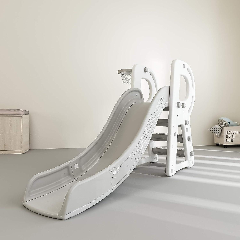 HAPPYMATY R-Shape Kid Play Slide Heavy Plastic Climb Playground