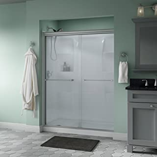 Delta Shower Doors SD3172311 Windemere Semi-Frameless Traditional Sliding Shower Door 60in.x70in, Nickel Track