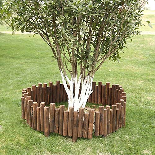 ZAQI Borduras Jardin Borde Cesped Borde de jardín de Madera, Forma Ajustable Decoración Cercas for al Aire Libre Patio, 15/20/25/30/35 cm de Altura (Color : Length 100cm/39, Size : Height 15cm/6')